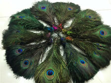 Beautiful 200 pcs natural peacock feathers eyes 10-12inch/25-30cm various colors
