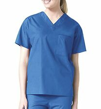 New SCRUB TOP Unisex Nursing Medical Uniform Medium XL 2XL Chest Pocket A78