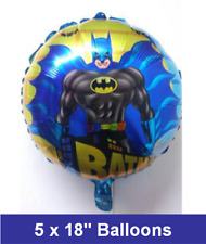 "5 X 18"" Batman Foil Balloons Birthday Party Decoration /Any Occasion"