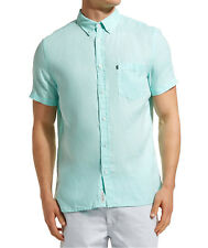 NEW JAG MENS Linen Short Sleeve Shirt  Casual Shirts