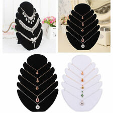 Velvet Flame Chain Bracelet Jewelry Necklace Display Stand Holder Organizer