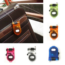 3-Feet Steel Cable Lock 3-Digits Combination Retractable For Bike Luggage -116cm