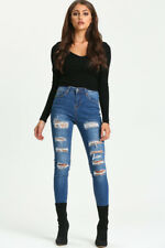ERICA HIGH WAISTED DENIM JEANS DARK BLUE