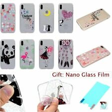 For iPhone GLITTER BLING CRYSTAL CLEAR FASHION TPU SOFT RUGGED Back Case Cover