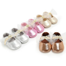 Charming Toddler Girl Shoes Newborn Baby Bowknot Soft Sole Prewalker Sneakers