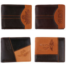 Mens Luxury Stitching PU Leather Wallet Credit Card Cash Holder Purse