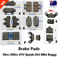 PIT DIRT BIKE REAR/FRONT BRAKE PADS SHOES 50cc 110cc 125cc Trail PIT BIKE ATV