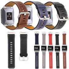 Replacement Genuine Leather Wristband Bracelet Watch Band Strap for Fitbit Ionic