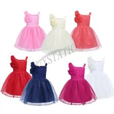 Girls Baby Tutu Tulle Flower Dress Glitter Princess Pageant Wedding Formal Party