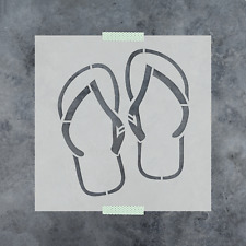 Flip Flops Stencil - Reusable Stencils of Flip Flops in Small & Large Sizes