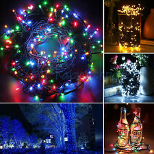Mains Powered Green Wire LED Light Outdoor Fairy String Christmas Garden Lights