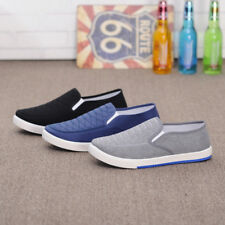 Men Slip On Loafer Canvas Casual Boat Shoes Flats Sneakers Driving Moccasin Size