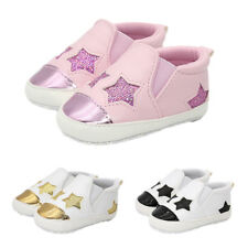 Baby Infant Baby Cute Stars Shoes Girl Soft Sole Sneaker Crib Shoes 0-18months