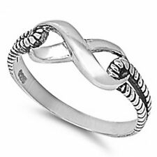 925 Sterling Silver Infinity Knot Band Ring