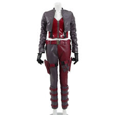 Harley Quinn Cosplay Costume Gameplay Women fight Suit PU leather Clown Dress