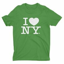I Love Ny I Love Ny Green T-Shirt Official Tee New York Screen Printed Heart ny