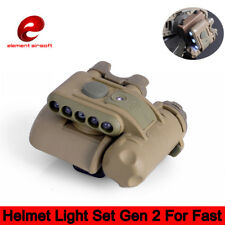 Element Tactical Helmet Light Lamp Set Gen2 White Red IR Led For Hunting Game CS