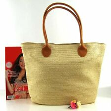 Straw Beach Bag Large Capacity Handmade Shoulder Bag Crochet Rattan Handbag OR