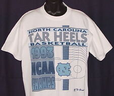 Vintage 1993 NCAA Basketball Champs UNC TARHEELS GAME T-Shirt NWT NEW OldStk MED