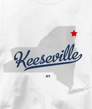 Keeseville, New York NY MAP Souvenir T Shirt All Sizes & Colors