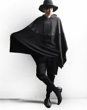 Men Casual Hoodie Hooded Sweater Pullover Cloak Batwing Cape Poncho Coat Jacket