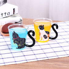 Transparent Glass Beverage Drink Mug Cup Cat Kitty Tea Milk Coffee Cup Xmas Gift