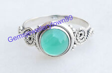 Green Onyx Ring 925 Sterling Silver Ring stone Ring Size 6 7 8 9 10 11 12 R3GO