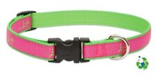 "NEW Lupine Pet Club 3/4"" or 1"" Adjustable Dog Collar or Leash in Bermuda Pink"