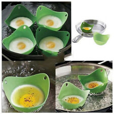 Utility 2X Kitchen Silicone Fried Fry Frier Oven Pancake Egg Poach Mould FS