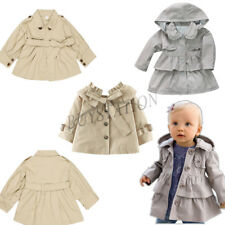 Baby Girl Kids Bowknot Outerwear Warm hooded Wind Jacket Long Sleeve Trench Coat