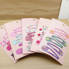 6PCS Hair Clips Snaps Hairpin Girls Baby Kids Hair Bow Accessories Xmas Gifts