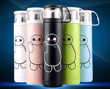 Cartoon Cup Travel Mug Tea Coffee Water Stainless Steel Flask Vacuum Thermos Cup