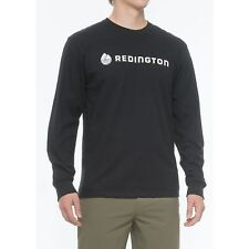 Redington Logo Fly Fishing T Shirt L/S Tee - Color Stealth Jet - Choose Size NEW
