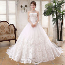 White/Ivory Lace Wedding Dress Bridal gown Ball Gown Custom Size 4 -28++