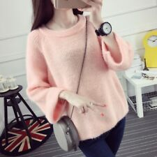 Women Sweater Autumn Spring Girl Loose Pullover Knitted Jumper Top Blouse