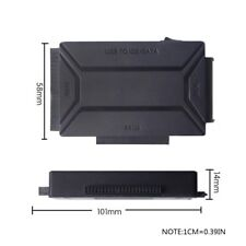 """USB3.0 To 2.5"""" 3.5"""" HDD Hard Drive SATA IDE Adapter Converter With Power Cable"""