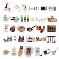 Dolls House Miniature Kitchen Food Drink Jam Bottles Cleaning Tool Bathroom Accs