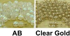 30pcs Crystal Clear Dotted Cube Spacer Czech Glass Beads 6mm x 5mm