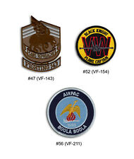 US Navy Fighter Squadron F-14 Tomcat VF 143, 154, 211, 213, 301 Patch