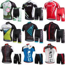 Unisex Mens Cycling Jersey Shorts Sets Women Short Sleeve Bicycle Clothing Suits