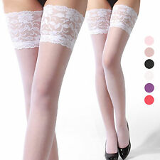 Muti-color Fashion Womens Sexy Womens Lace Top Thigh High Stockings Pantyhose