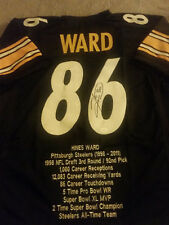 Hines Ward Autographed Pittsburgh Steelers Football Jersey, COA/Total Sports
