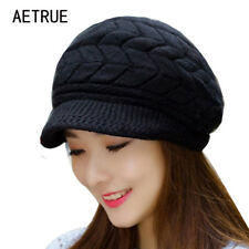 Women's Girls Knit Winter Beanies Hats Skullies Caps Snapback Wool Warm Hat 2018