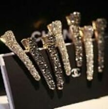Imitation rhinestone hair accessories hairpin side bangs clip shiny alloy toothe
