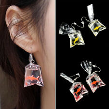 Fashion Cute Goldfish Water Bag Shape Dangle Earrings Charm Hook Jewelry Gift