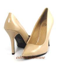 Dark Beige  Patent Awesome Sexy Height Pointy Pointed Toe Stilettos Heels Pumps