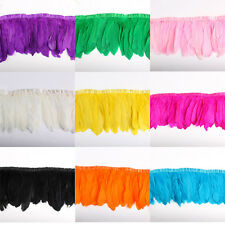 10 yards Goose feather fringe trim for Crafts/Costume/Sewing 15-20cm