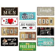 Shabby Chic Metal Wall Art Sign Retro Tin Steel Plaque Pub Bar Man Cave Pictures