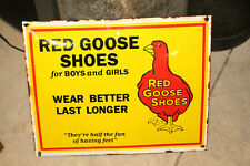 RED GOOSE SHOES porcelain enamel sign vintage style  country store Advertising