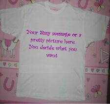 ADULT BABY T SHIRT     DESIGN YOUR OWN  PERSONAL / CUSTOMISED